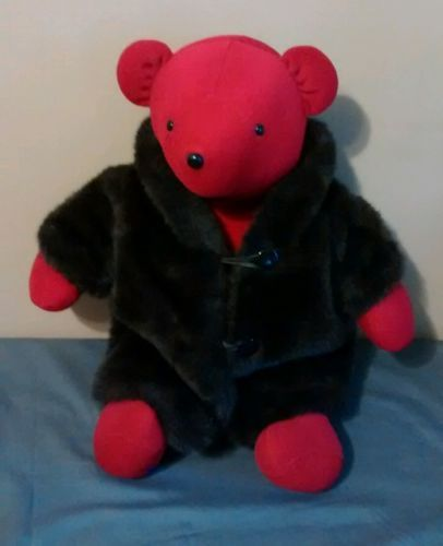 Vintage-North-American-Bear-Co-VIB-Lauren-Bearcall-Red-1983-Faux-Fur-Coat
