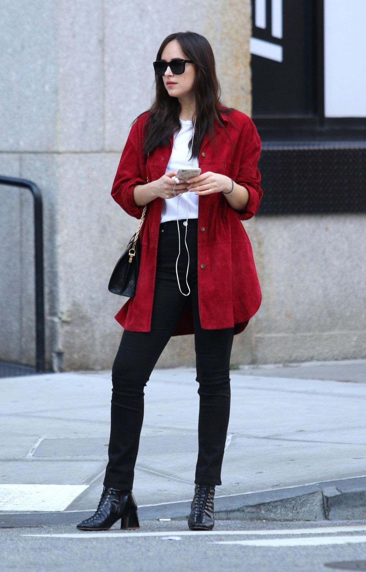 Dakota Johnson Out On Her 28th Birthday In New York
