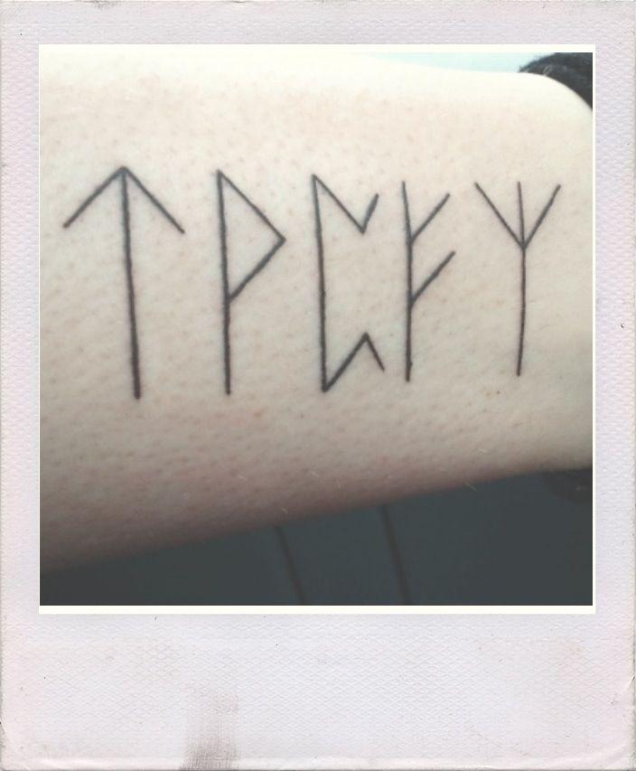 Viking Runes Tattoo Violence Knowledge Fertility Wealth