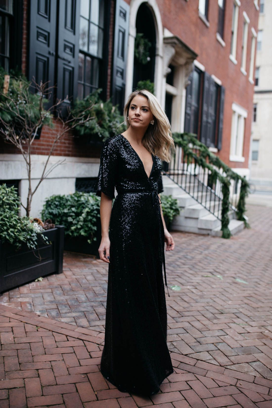 Black Sequin Dress Styled Snapshots Wedding Attire Guest Black Tie Wedding Guest Dress Wedding Guest Outfit Winter [ 1650 x 1100 Pixel ]