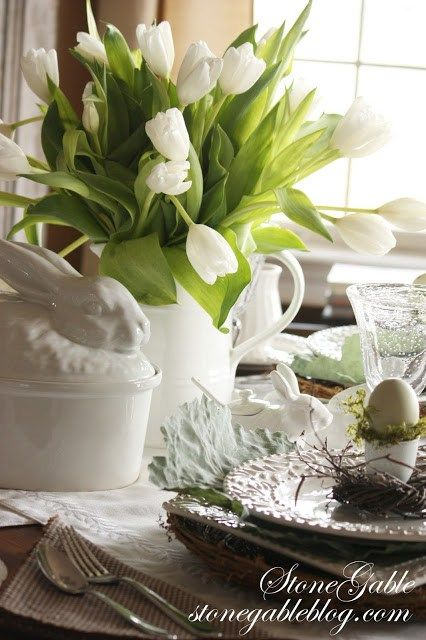 AN EASY EASTER TABLE~ USING A FORMULA - StoneGable