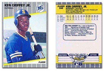 Ken Griffey Jr Rookie Card 1989 Fleer Baseball Card 548