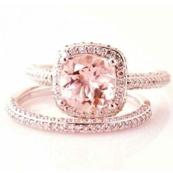 Pink Diamond Rings Engagement Liked On Polyvore