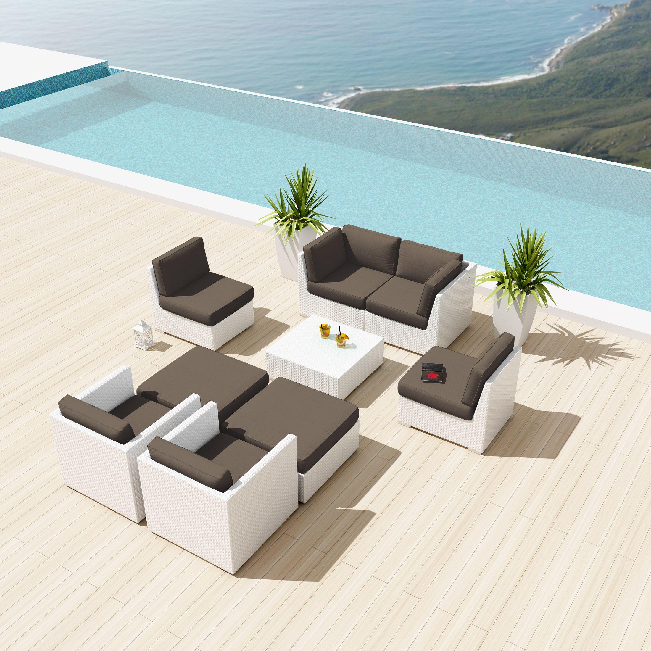 Uduka Bangalore 9 pcs Outdoor Sectional Patio Furniture Sofa Set