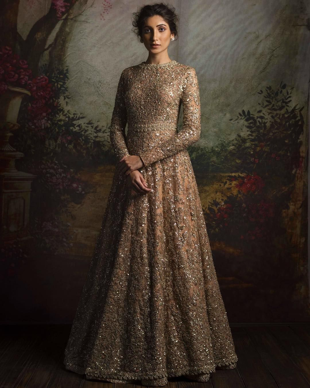 The best of sabyasachi for 2016 brides anarkali gown for Punjabi wedding dresses online
