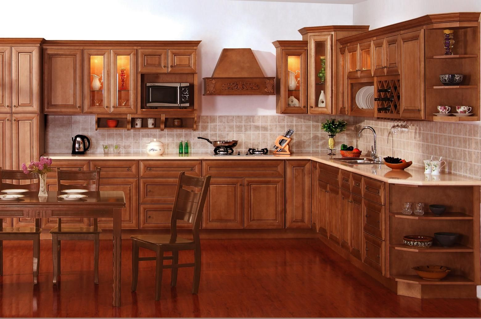 Coffee Maple Cabinets  Kitchen  Pinterest  Maple Cabinets Unique New Design Kitchen Cabinet Decorating Inspiration