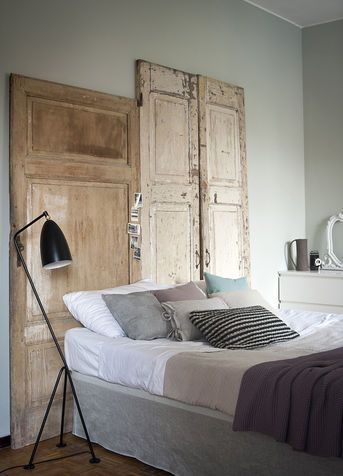 testiera del letto originale fai da te colore. Black Bedroom Furniture Sets. Home Design Ideas