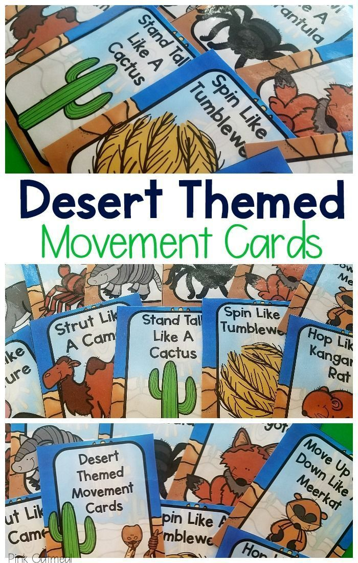 Desert Movement Cards and Printables Habitats, Preschool