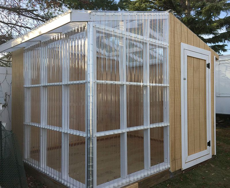 Tuftex Polycarb Clear Panels On A Greenhouse Shed Greenhouse Shed Polycarbonate Greenhouse Greenhouse
