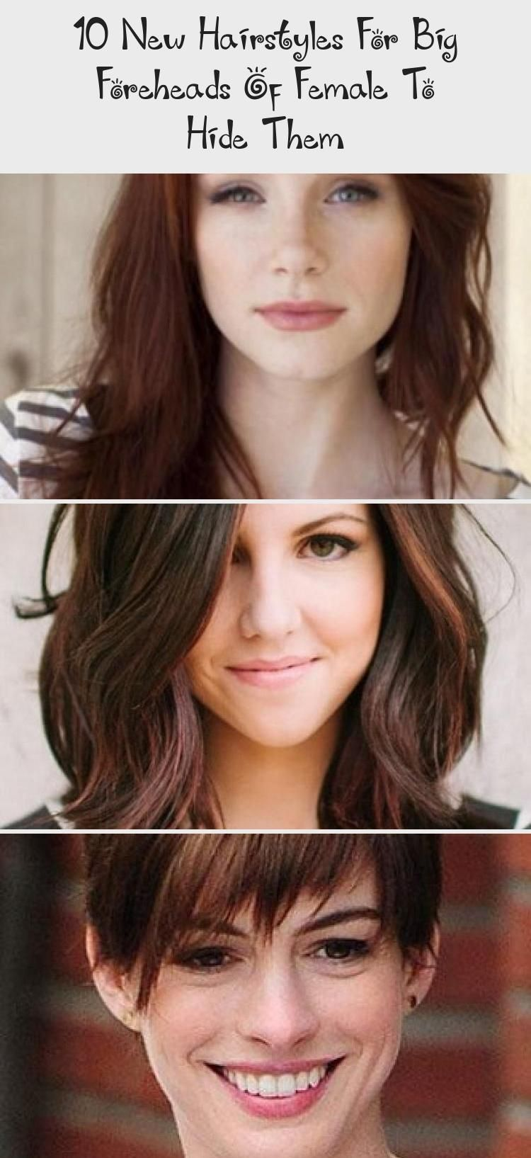 10 new hairstyles for big foreheads of female to hide them