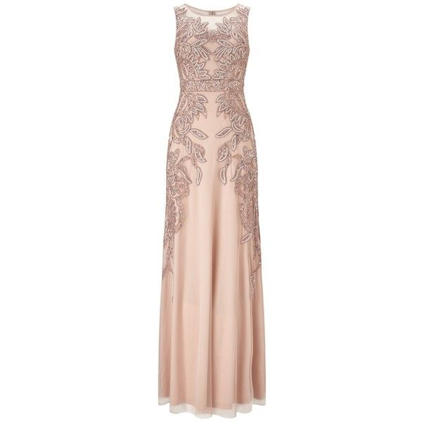 Adrianna Papell Plus Size Beaded Gown With Intricate Embroidery ...
