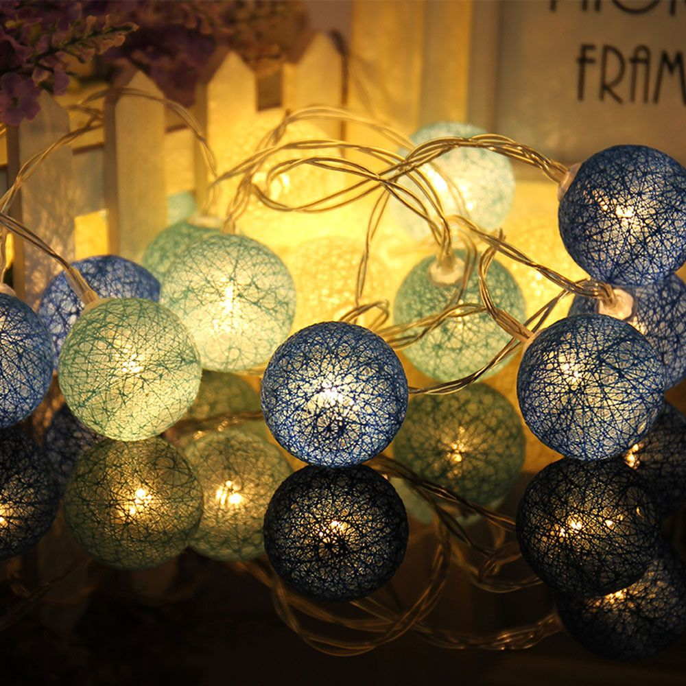 Holiday 2.3M 20LED Cotton Ball String Lights Party Wedding Christmas ...