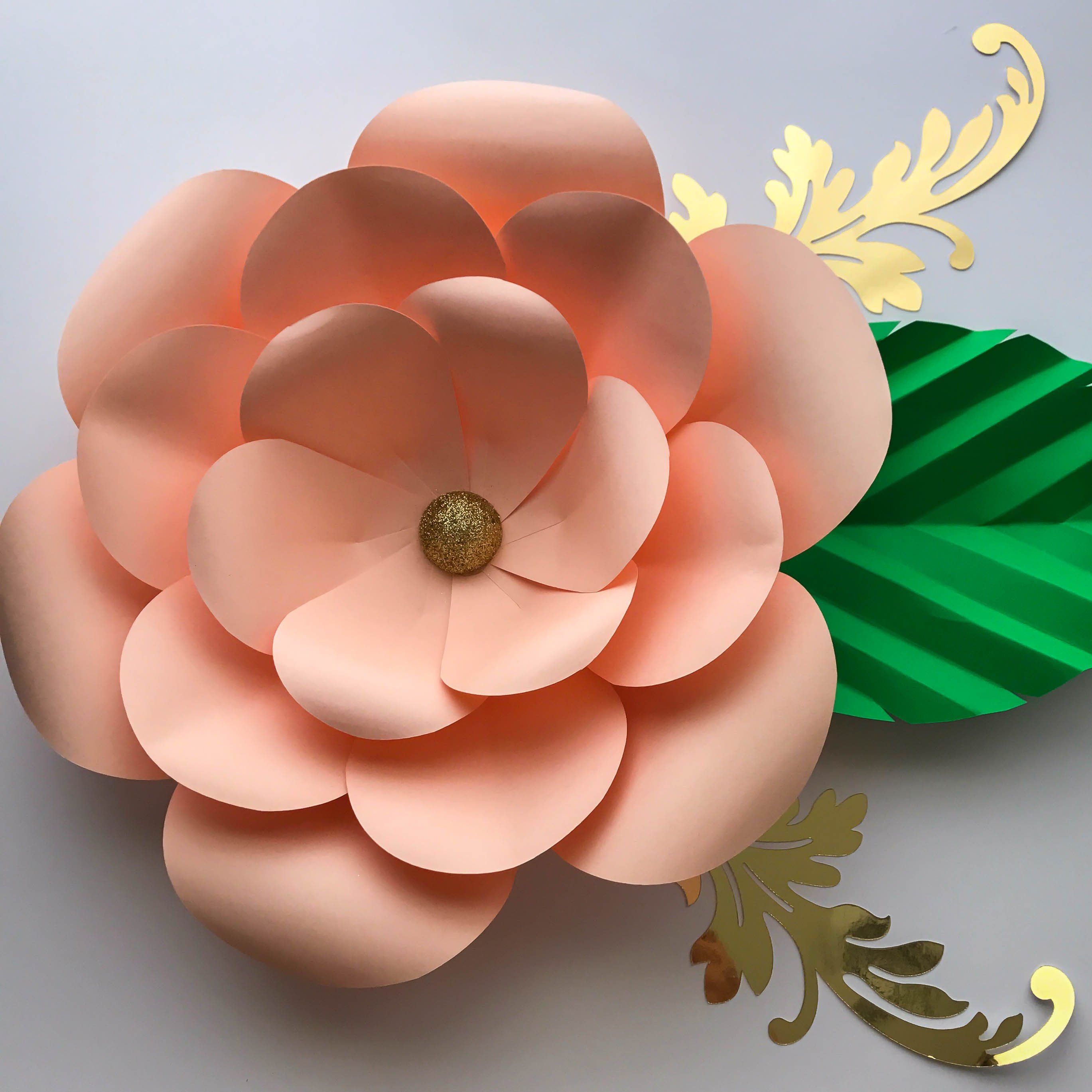 PDF Petal  Paper Flower TemplatePrintableTrace and Cut D Giant