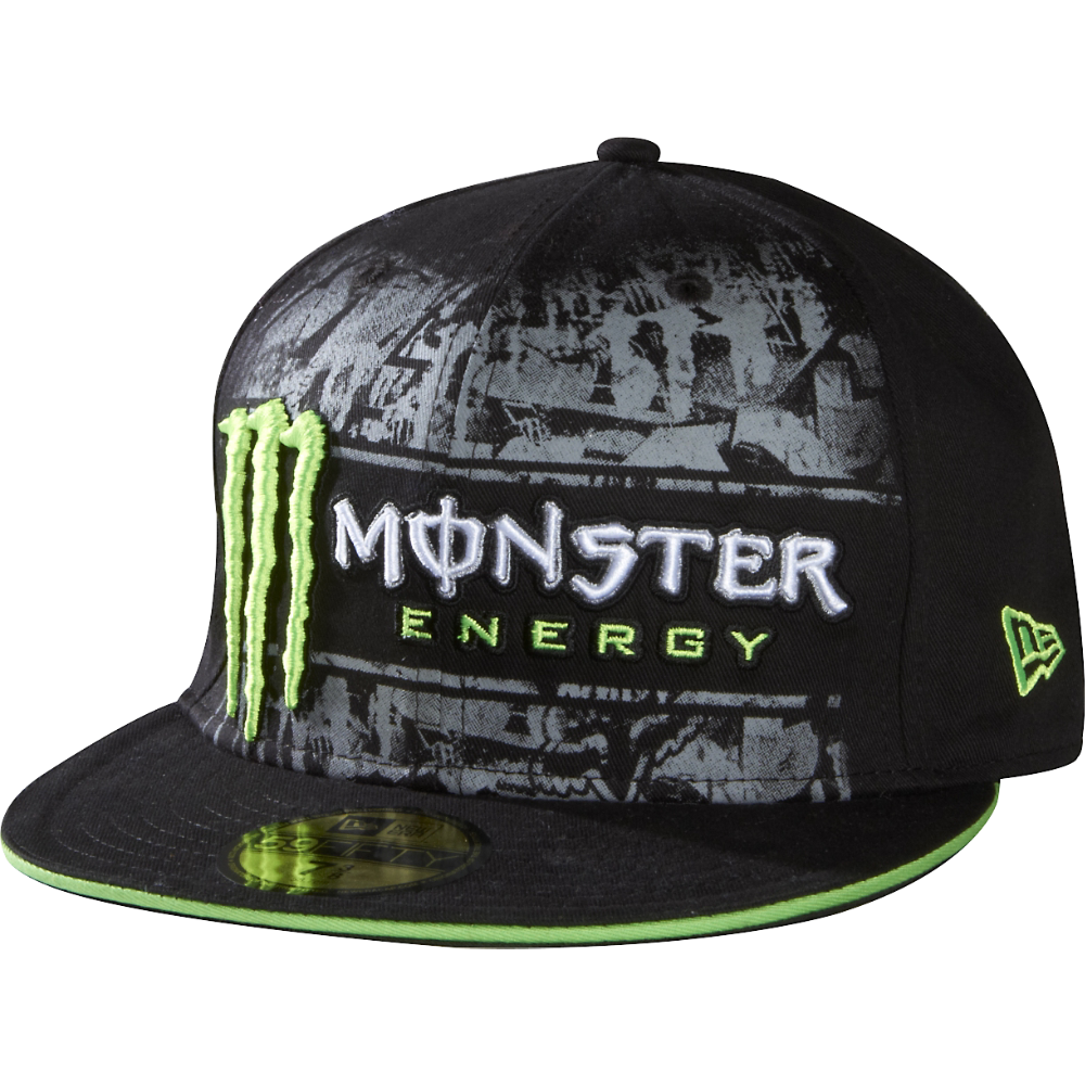 fb8f6c84 FOX x MONSTER FLATBILL Monster Energy, Flat Bill Hats, Flat Hats, Fox  Motocross