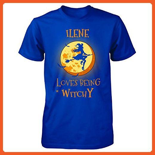 Ilene Loves Being Witchy. Halloween Gift - Unisex Tshirt Royal S - Holiday and seasonal shirts (*Partner-Link)