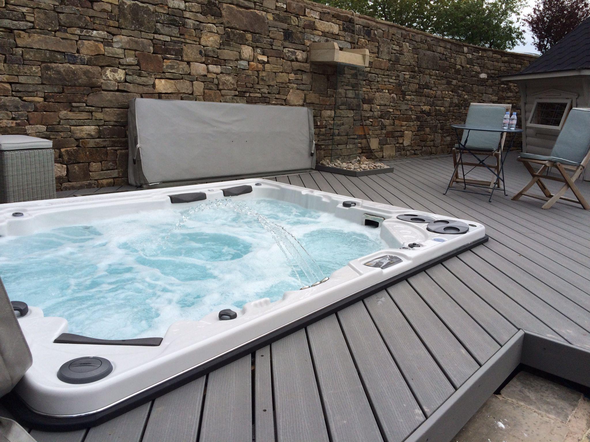hydropool 1038 tub in silver marble whirlpool und swimspa