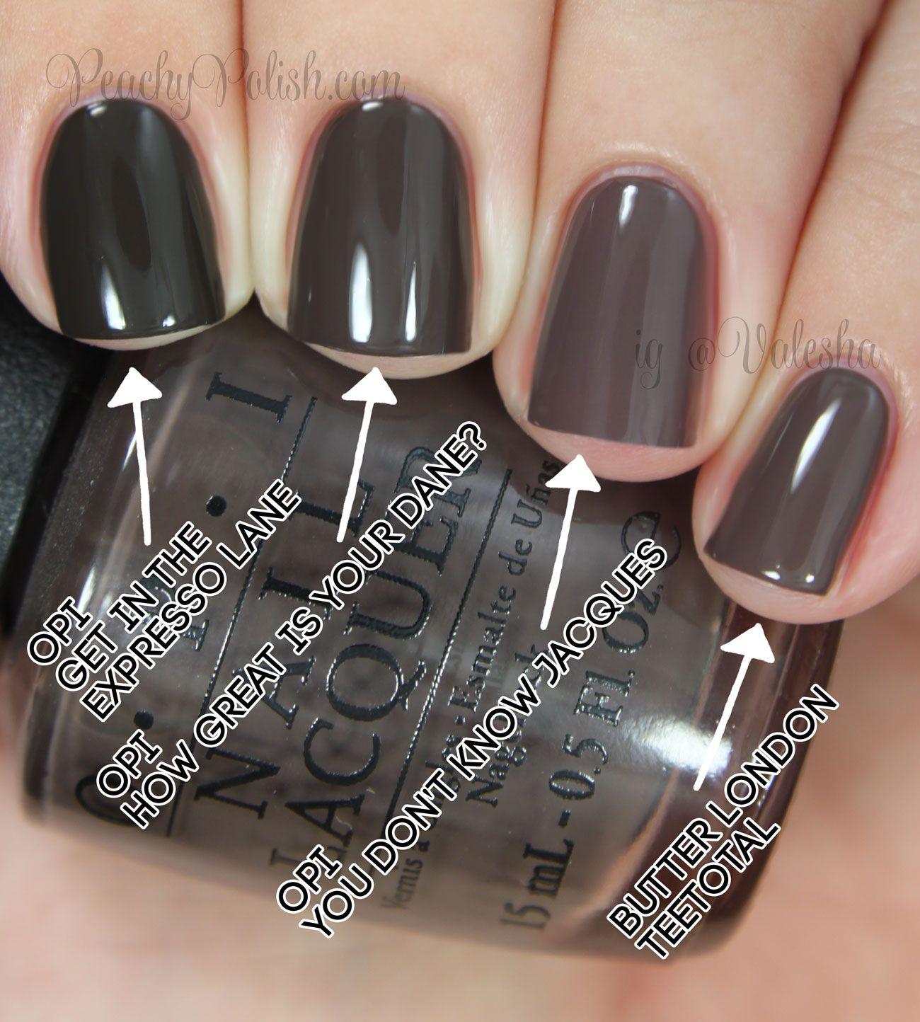 Opi Nordic Collection Comparisons Fashion Nails Cute Nails Nail Polish