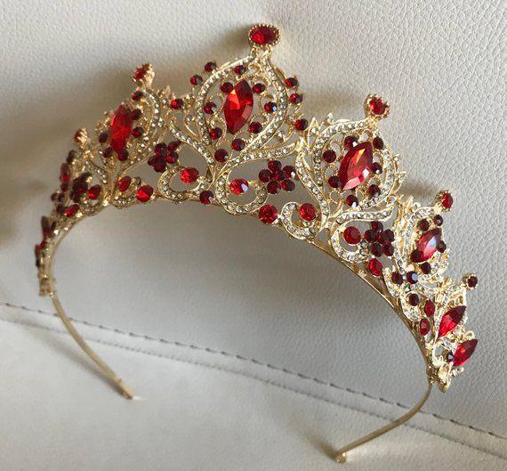 Gold Tiara Bridal Crown Crystal Wedding Tiara Wedding Hair Accessory Wedding Headpiece Bridal Hairpiece Swarowski Crystals