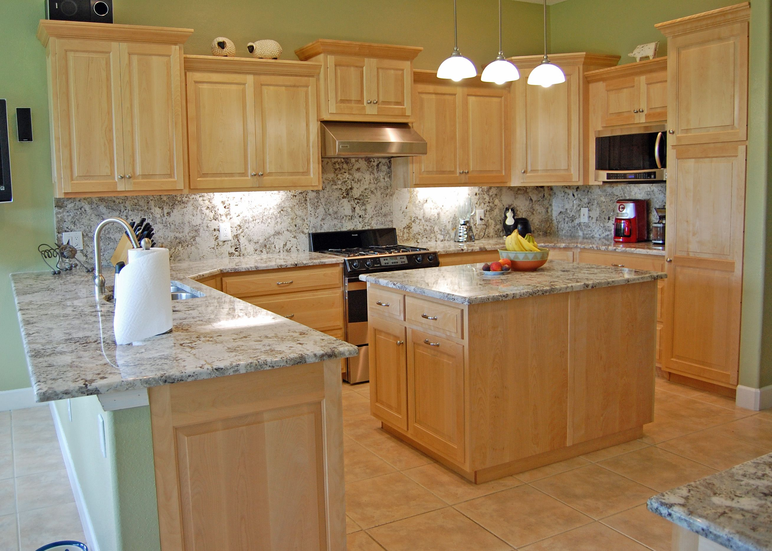 White Maple Kitchen Cabinets. Available in any setup/size