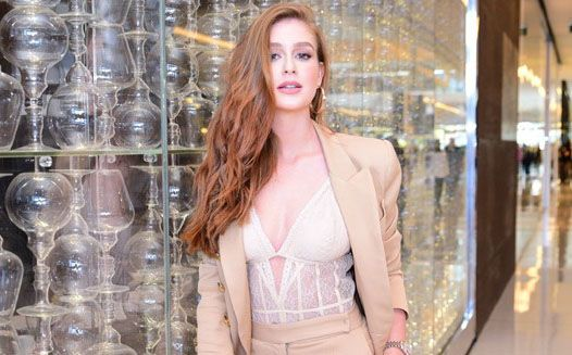 5030c1cfc Look do dia  Terno nude e body de renda de Marina Ruy Barbosa - Moda ...