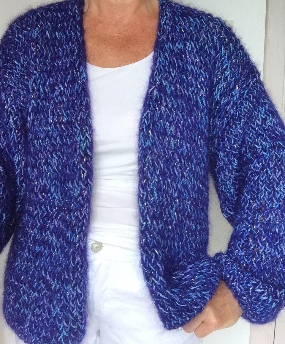 BLUE GOLD , handgebreide cardigan cotton /kid mohair/ viscose www ...