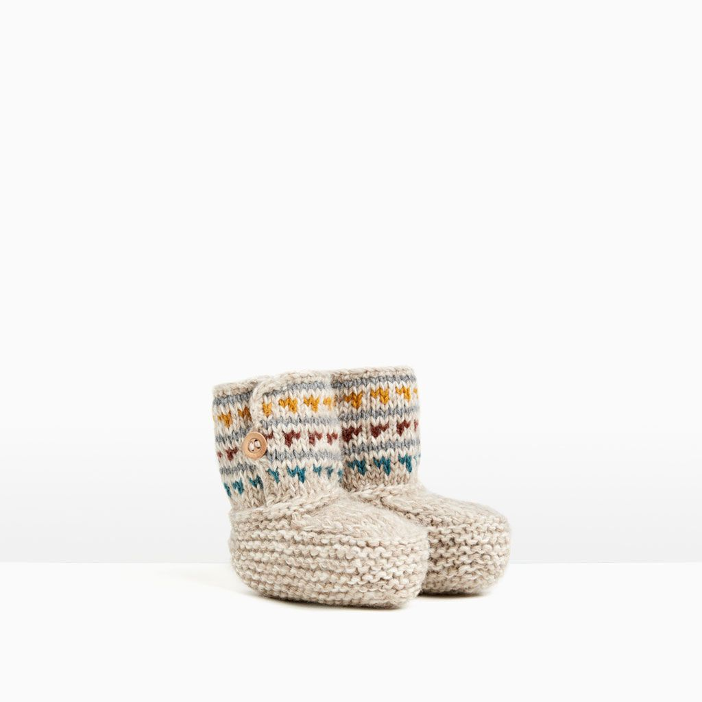 TRICOTINE BOOTS-COLLECTION-MINI | 0-12 months-KIDS | ZARA United States