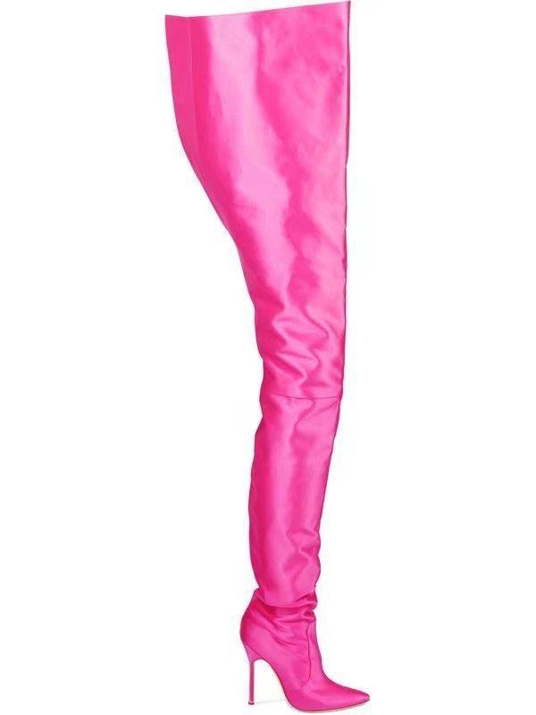 Luxury Designer Extreme Long Waist Rihanna Style Crotch Thigh High Boots c74f2ccb6