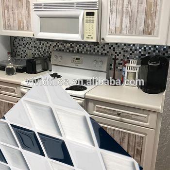 Kitchen Oil Proof Backsplash Tile Decals Multicolor DIY Steps Sticker  Removable Stair Sticker Ceramic Tiles Patterns