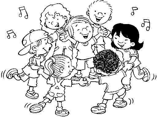 Criancas Brincando De Roda Para Colorir Jpg 512 384 Desenhos