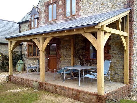 Oak Frame 1 Car Port Et Abri Pinterest Canopy Porch