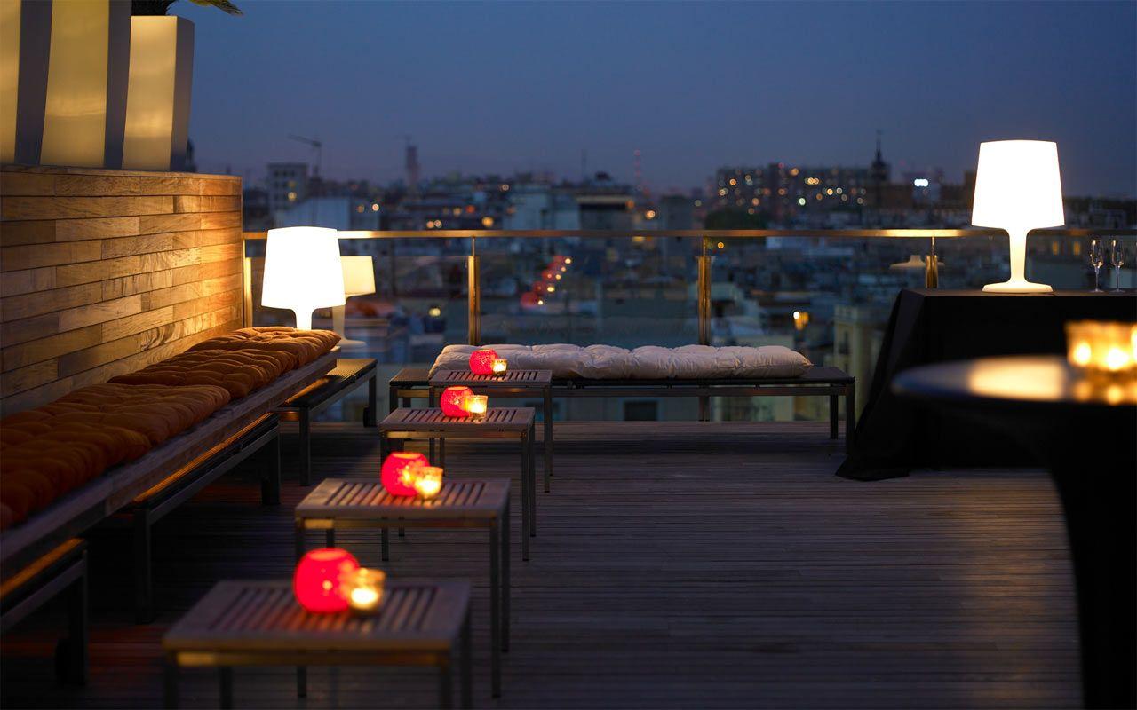 Night Restaurant Terrace Roof Terrace Dakterras Dakterras