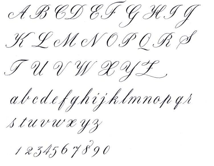 Copperplate Handwriting Worksheets Alphabet In Writing Script 1