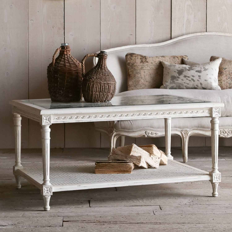 Eloquence le courte antique white coffee table antique