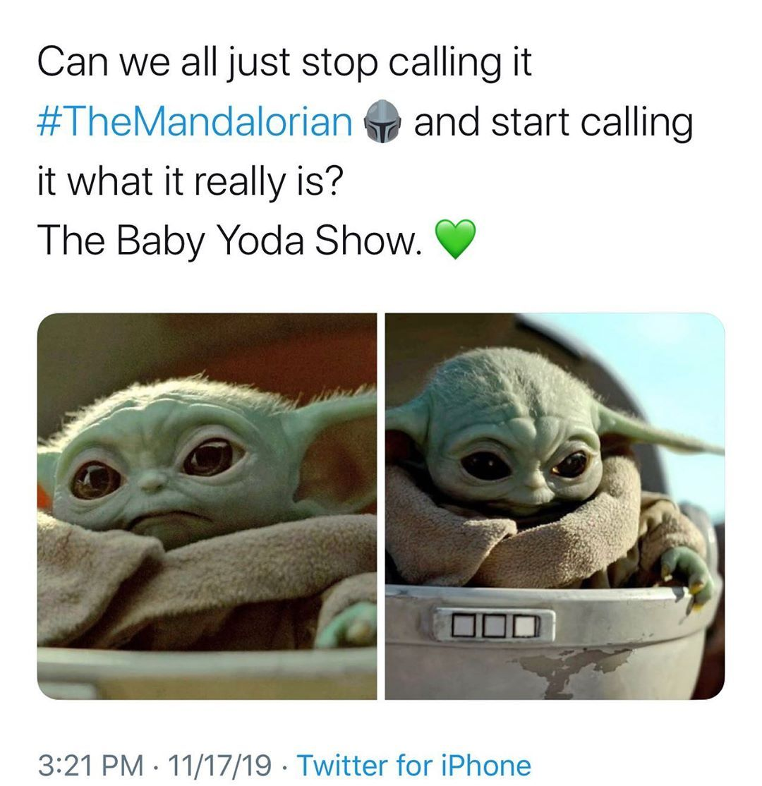Movie Thrill On Instagram Baby Yoda Stealin The Show From Everyone Else Follow Moviethrill For All You Yoda Meme Star Wars Memes Star Wars Baby