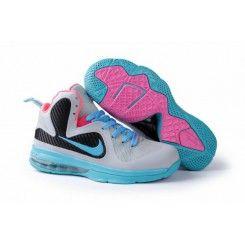 Nike Lebron James 9 Max Blue Black Pink Shoes