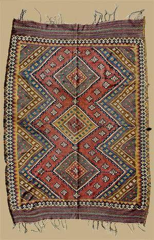Fleatweave Dimension:  2.76 x 1.84 m   Date:  2. half 19th century   Gasghai tribe - south Persia  I Ex Oriente: Persia