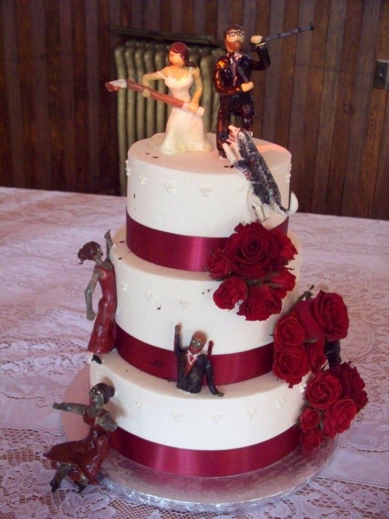 Zombie Spiderman Wedding Cake Topper Wedding Dress Pinterest