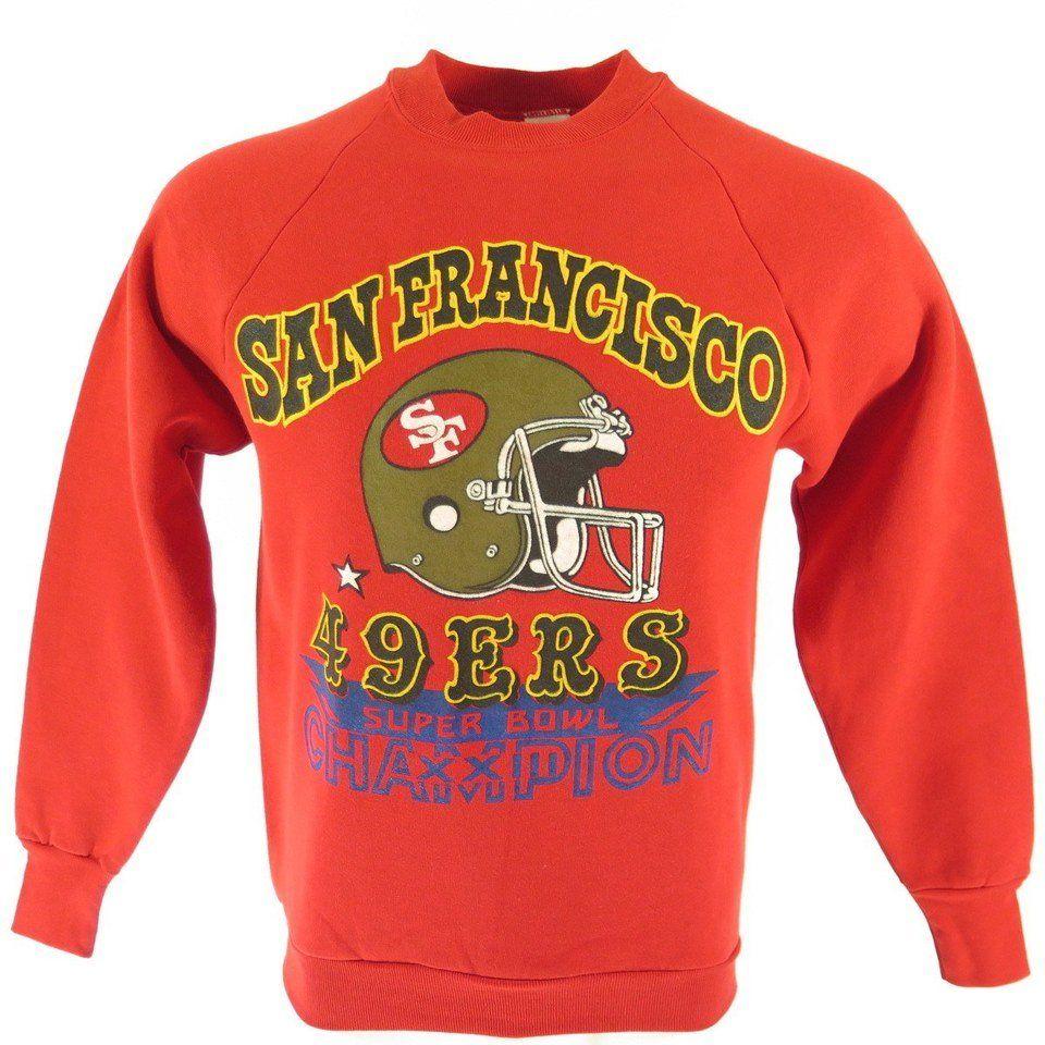 2a1c614f Vintage 80s San Francisco 49ers Sweatshirt Medium fits S Deadstock ...