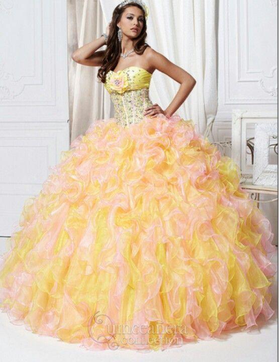 Yellow with orange Dresses 2013 d5c36cbd1ede