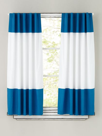 Color Edge Curtain Panels by Land of Nod on Gilt.com