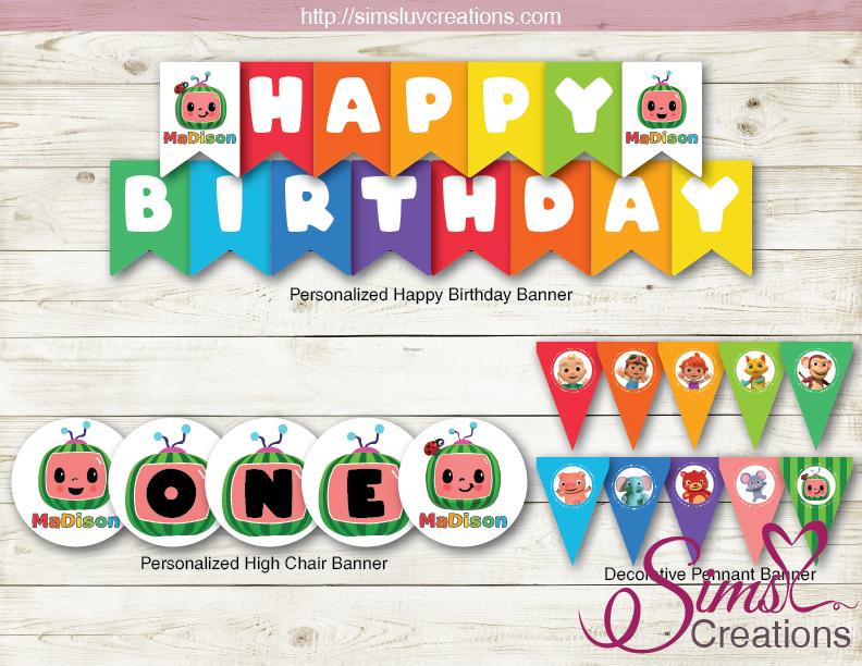 Personalized Banner Birthday Party Birthday Banner First Birthday Banner Birthday Decor Birthday Decorations Happy Birthday