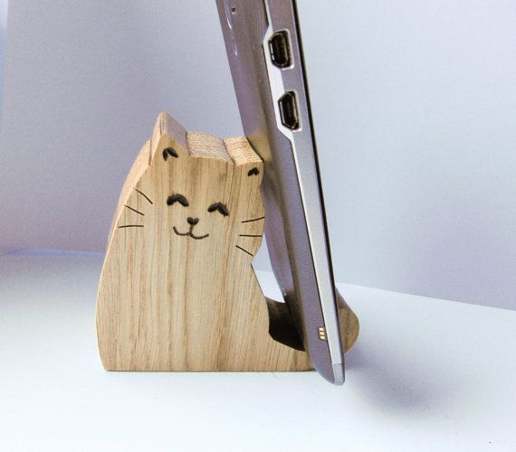 cat phone holder desk phone holder tablet holder. Black Bedroom Furniture Sets. Home Design Ideas
