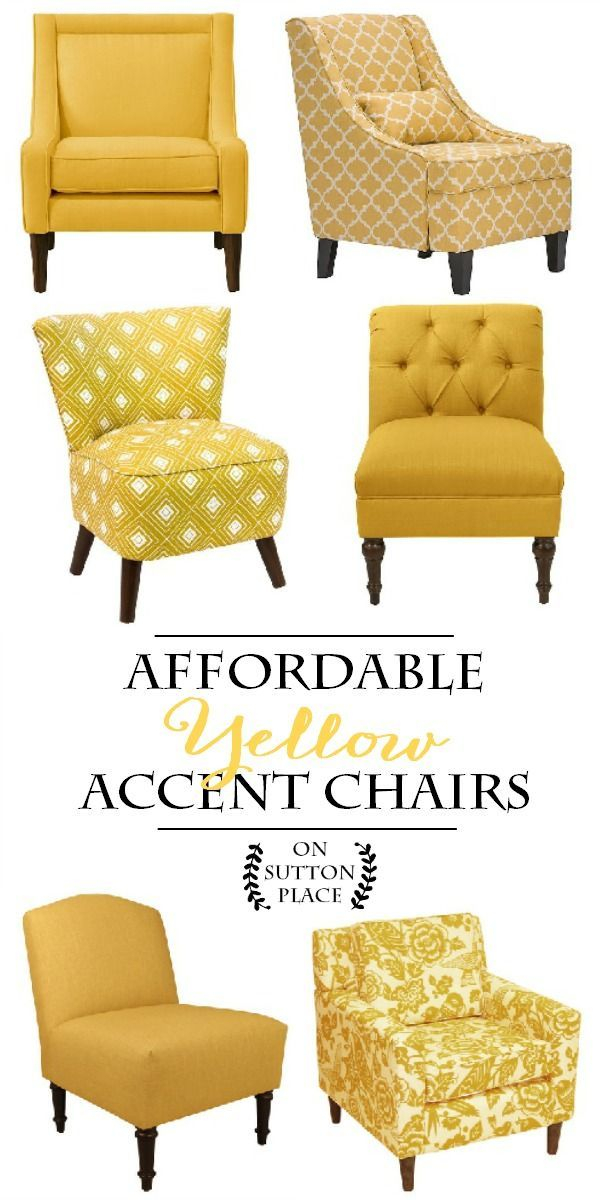 Affordable Yellow Accent Chair Shopping Guide | Sylish Decor Doesnu0027t Have  To Be Expensive! Includes Slipper Chairs, Arm Chairs And More.