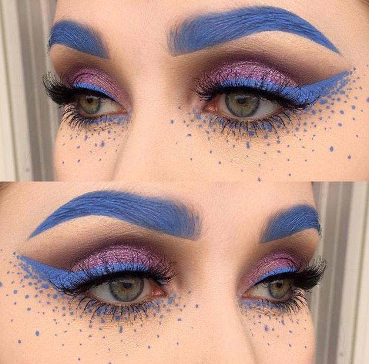 Wonderland | grey eyebrows and liner | Rave makeup ...