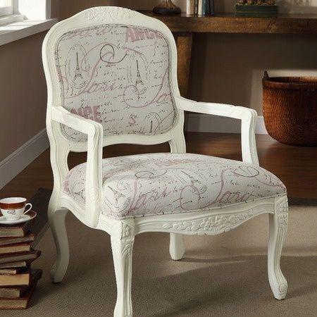 paris theme accent chair | Living Room Re-decorate / Paris ...