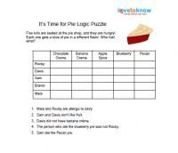 image about Printable Logic Puzzles for Adults identified as Printable Logic Puzzles for Small children Instruction Math logic