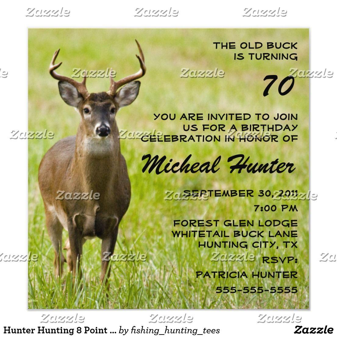 Invitation Chasseur Chassant La Fete D Anniversaire Drole De Zazzle Fr Anniversaire Drole Faire Part Photo Invitation