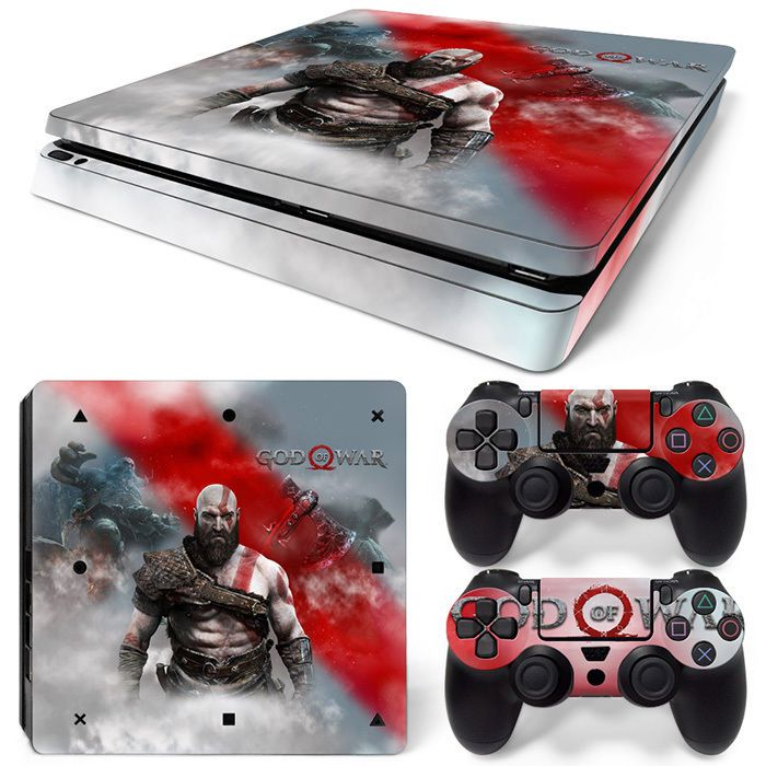 Ps4 Slim Sticker Console Decal Playstation 4 Controller Vinyl Skin White Faceplates, Decals & Stickers Video Game Accessories