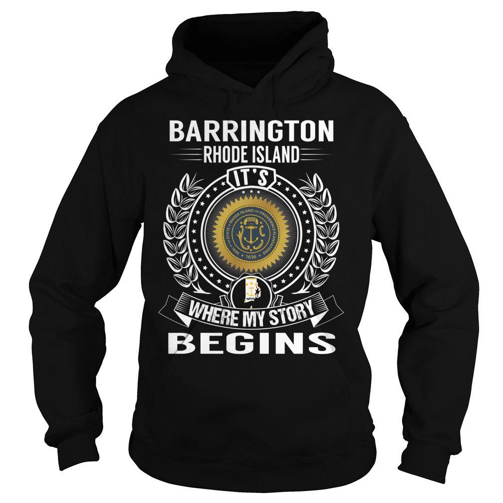 Barrington Rhode Island Its Where My Story Begins City Shirts