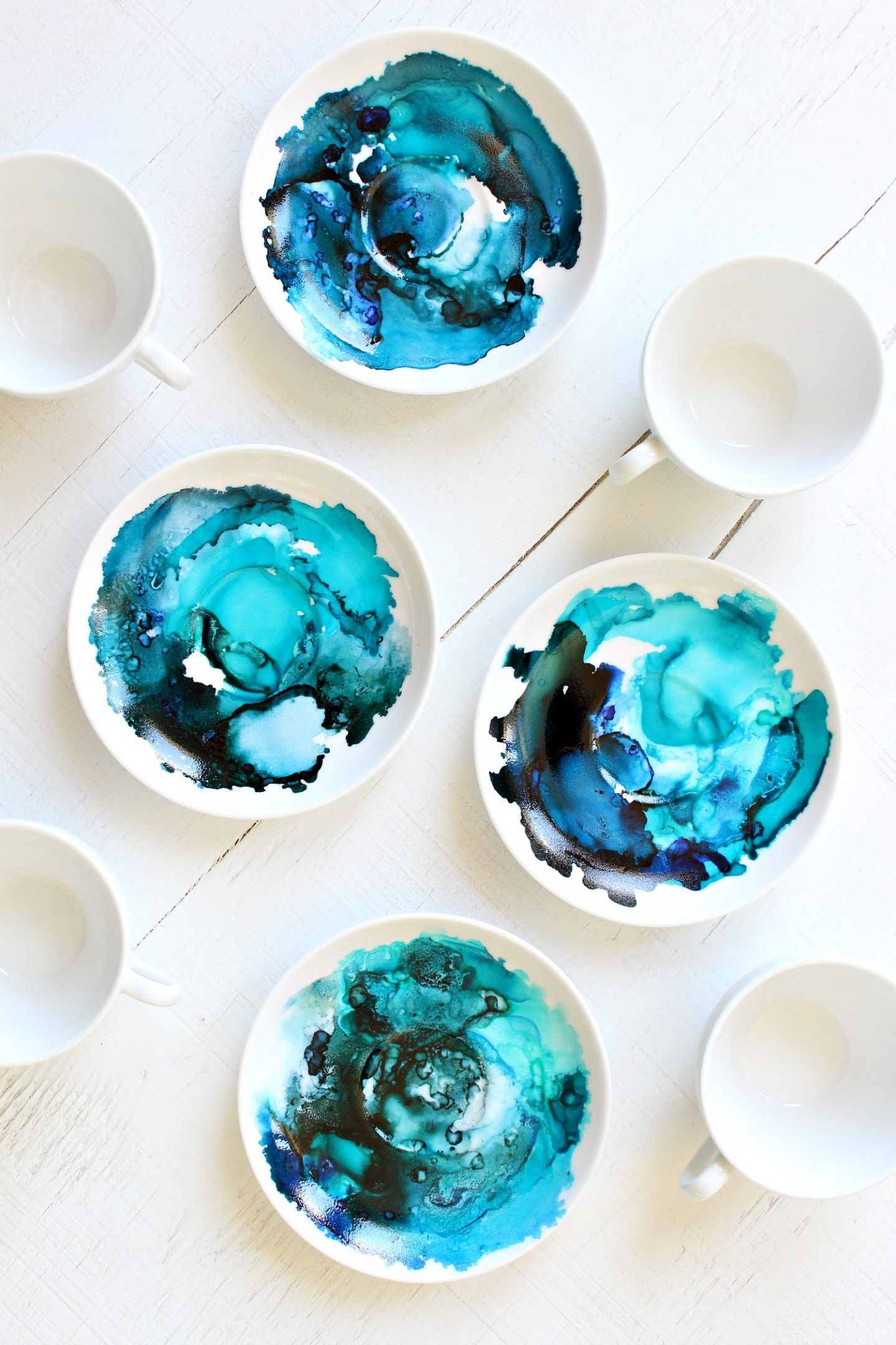 How To Use Alcohol Ink On Ceramics Alcohol Ink Glass Upcycled